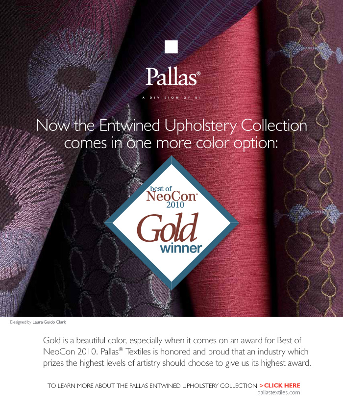 Pallas wins 2010 Best of NeoCon Gold, Healthcare Fabrics